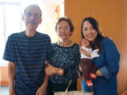 With your great grandpa and grandma