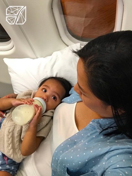 Tip: Let your toddler have her milk during take off. It helps with the ear pressure.