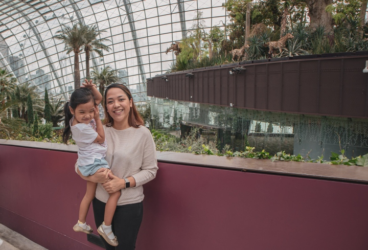 What to expect when visiting the Flower Dome with a toddler